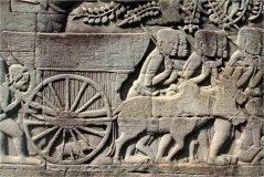 Motiv na reliéfu z doby khmérské říše