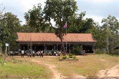 Typická kambodžská nedávno postavená škola